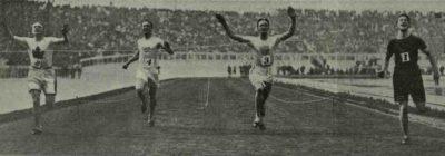 Londra 1908, finale 100 metri piani (foto: wikipedia.org)